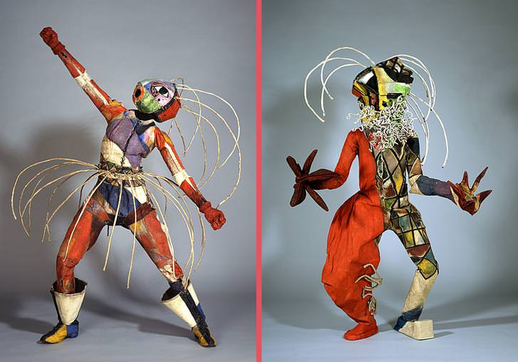 New post  Between 1919 and 1924, German Dance Couple Walter Holdt and Lavinia Schulz Created These Cool But Odd Costumes for Their Dance Performances.